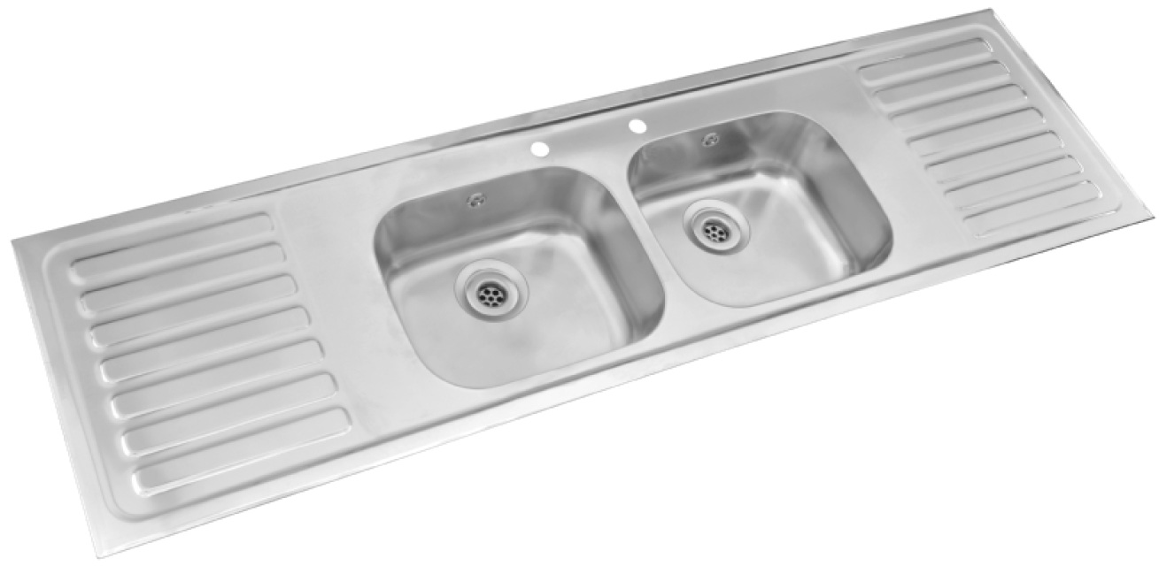 Pyramis - double bowl double drainer sink