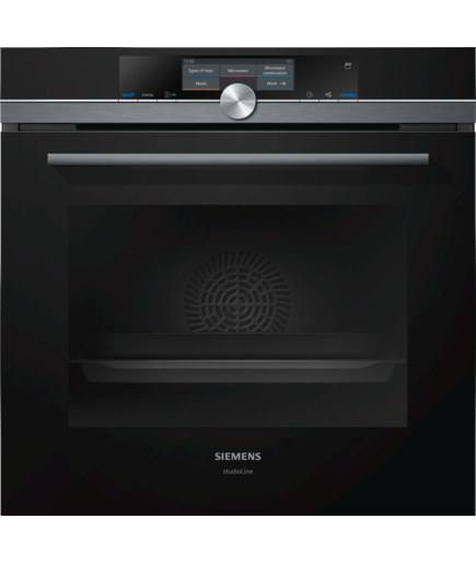 Siemens Iq700 Single Oven With Fullsteam Hs858gxb6b Black